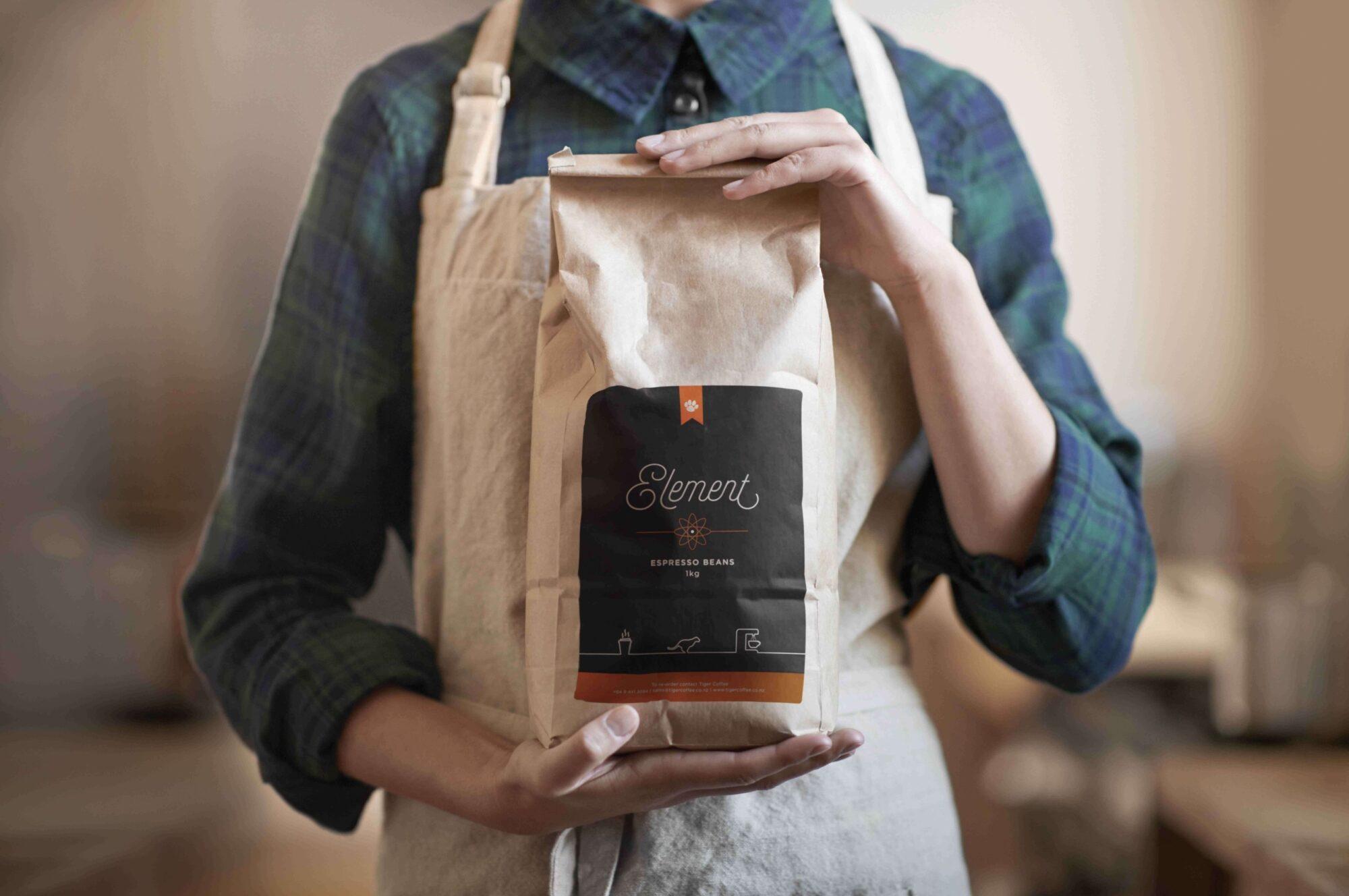 Tiger Coffee Coffee Bean Bag