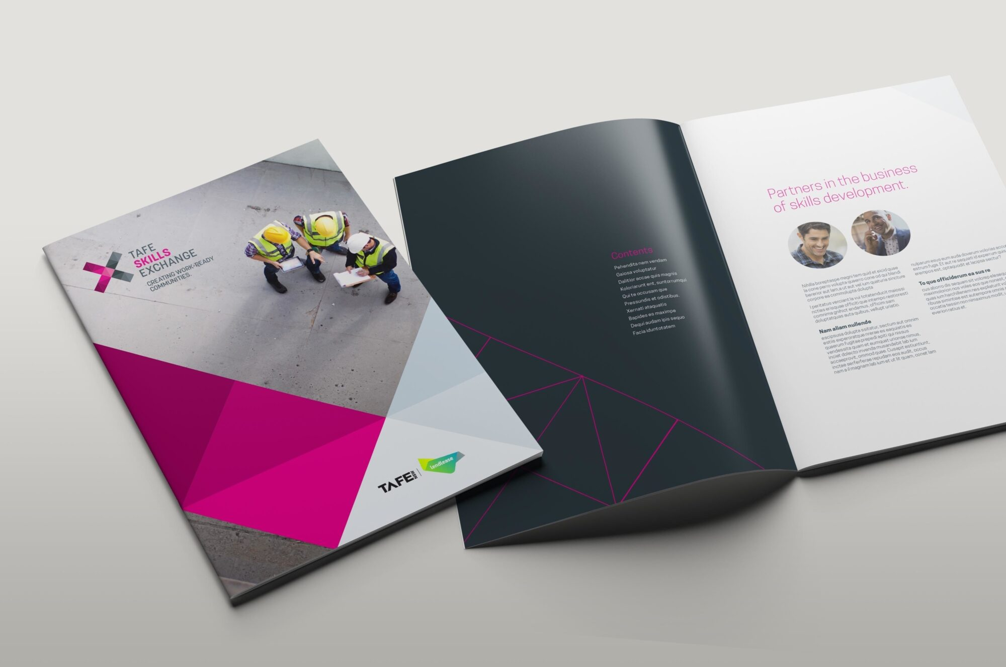 Tafe BSX publication spread