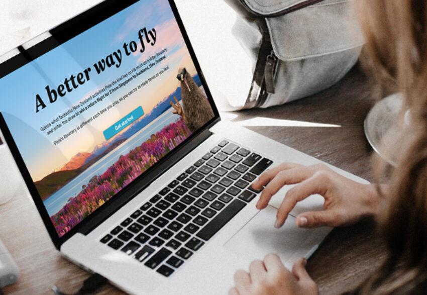 Air NZ laptop