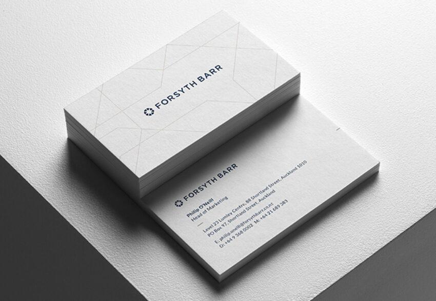 Forsyth Barr Business Card Design