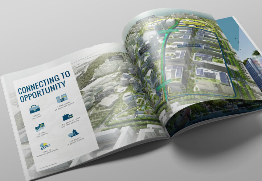 WNC stationery premium mockup publication spread