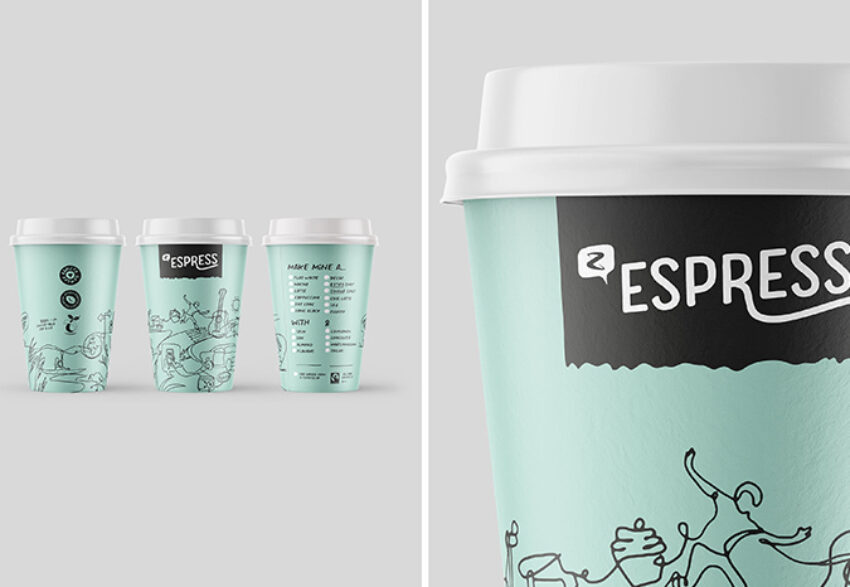 Z Espress packaging cup illustration