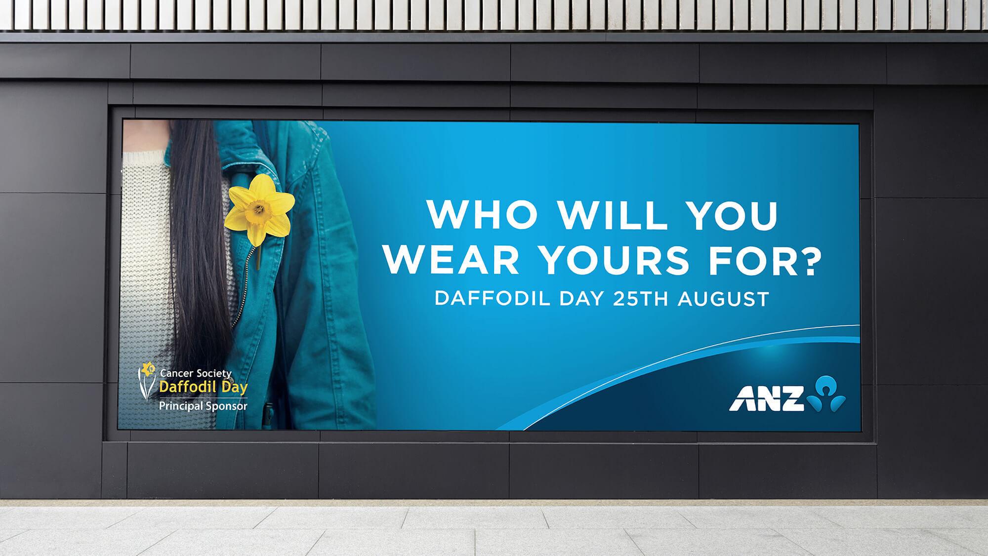 ANZ Brand Guardians Daffodil Day Billboard