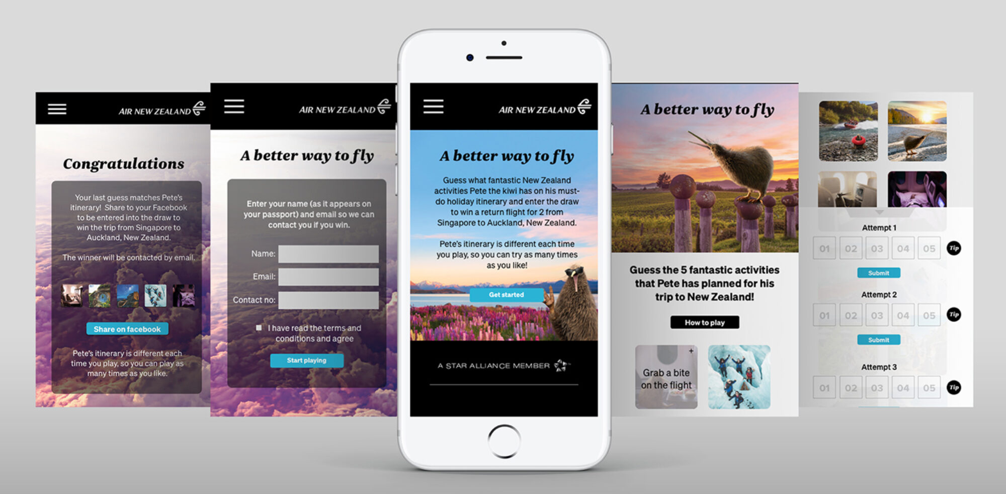 Air NZ phonescreen