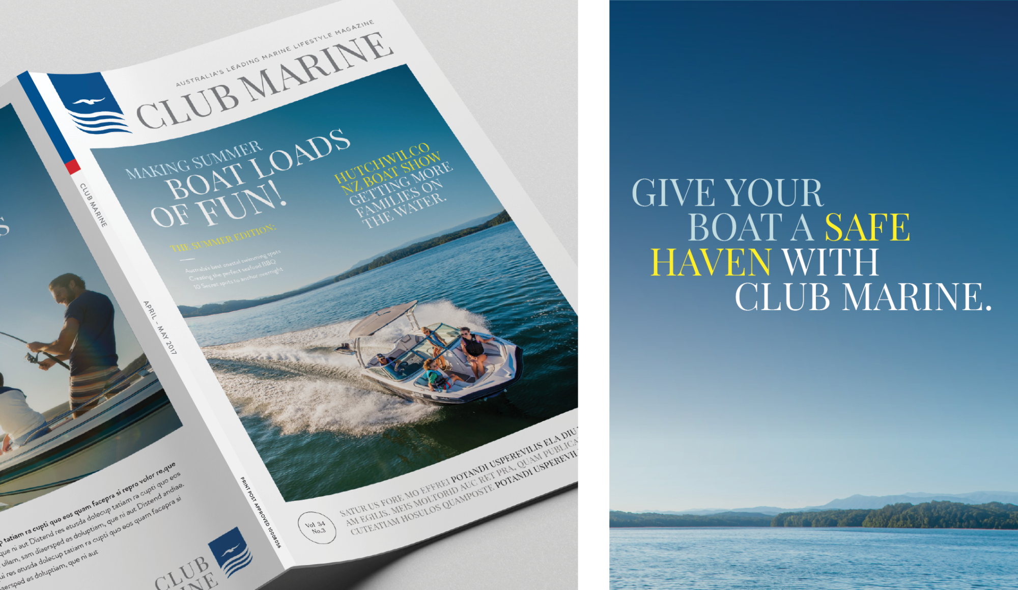 Club Marine publication and graphic