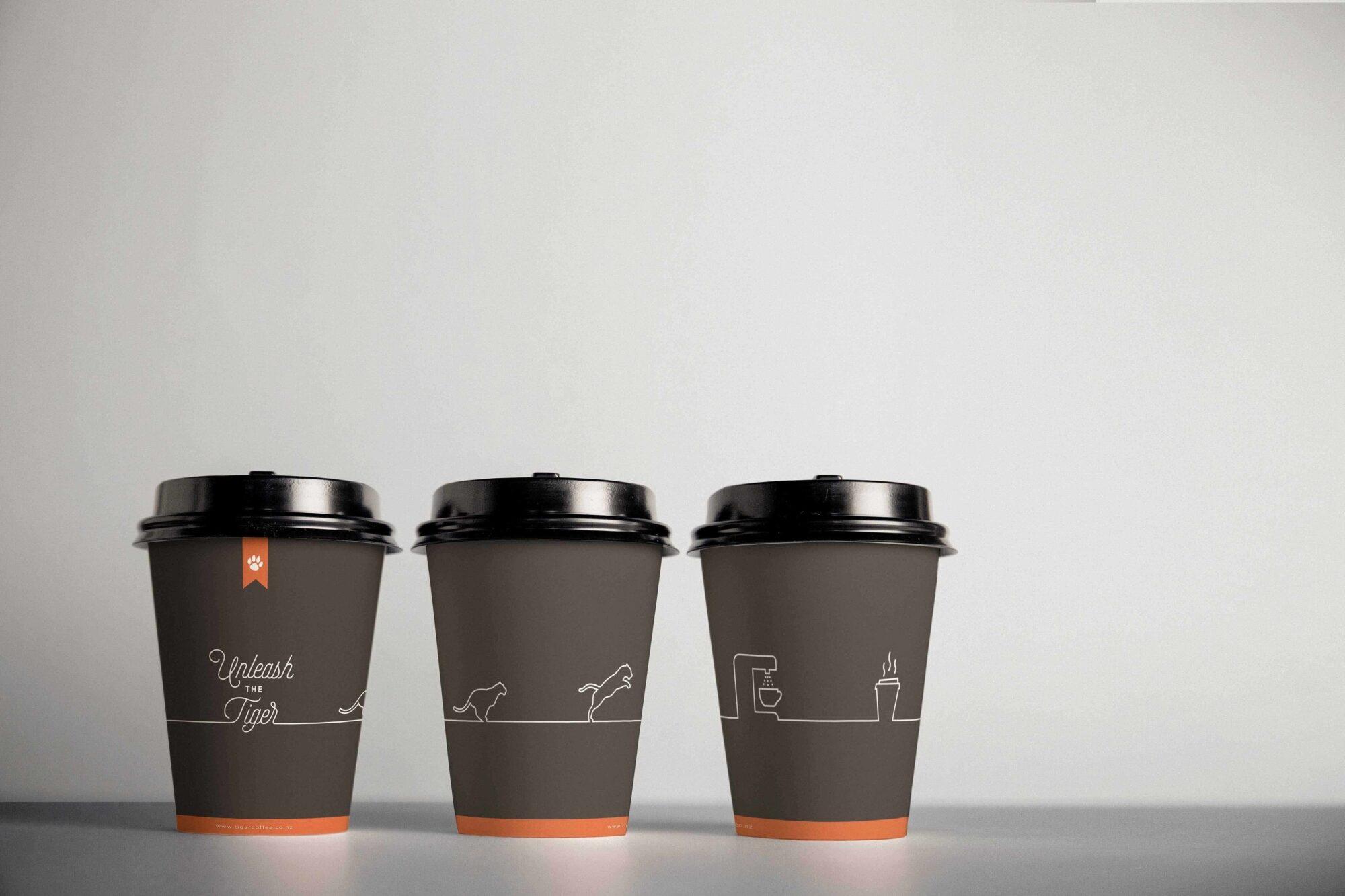 Tiger coffee 3 cups
