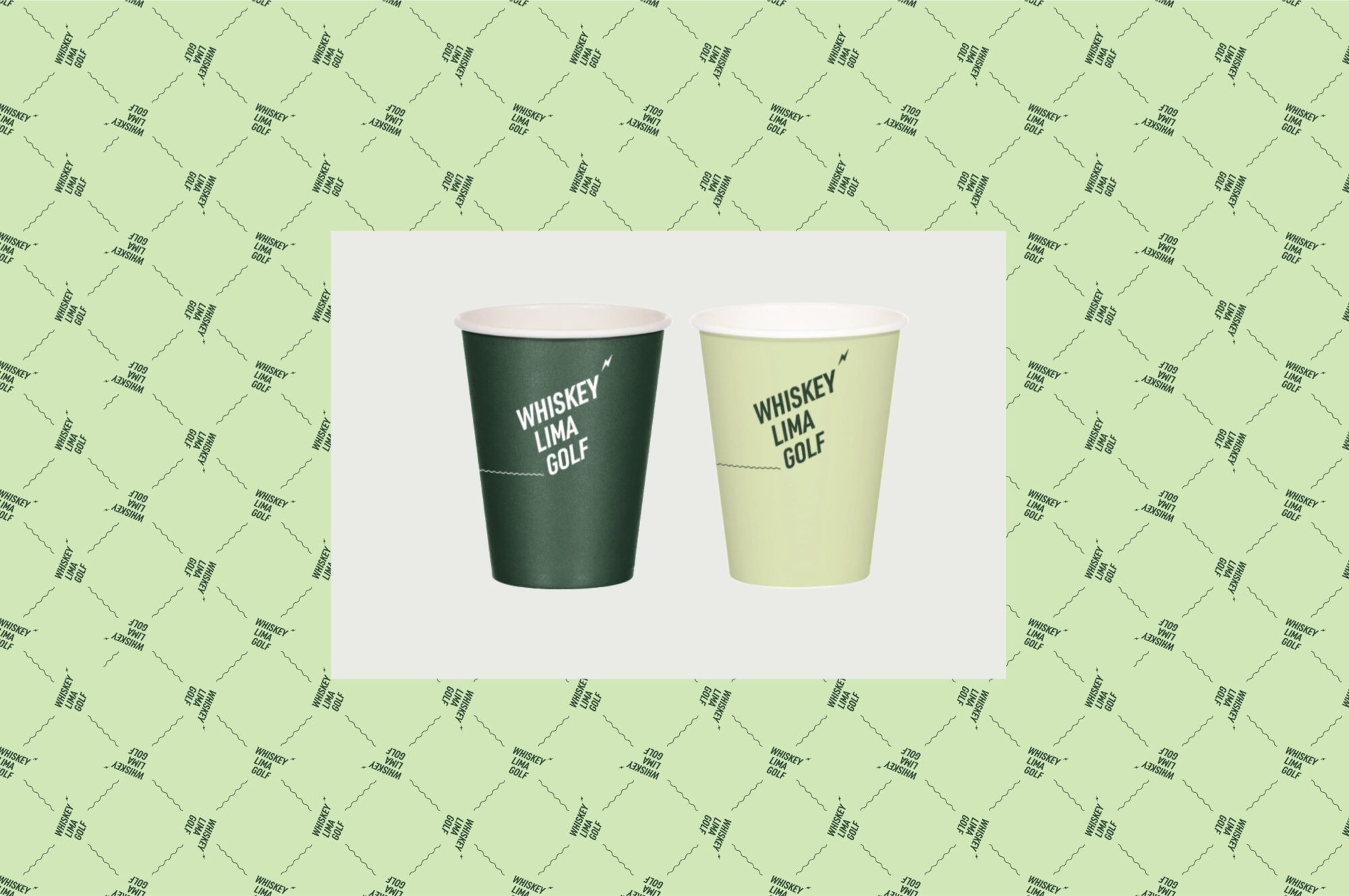 WLG pattern and take away cup designs