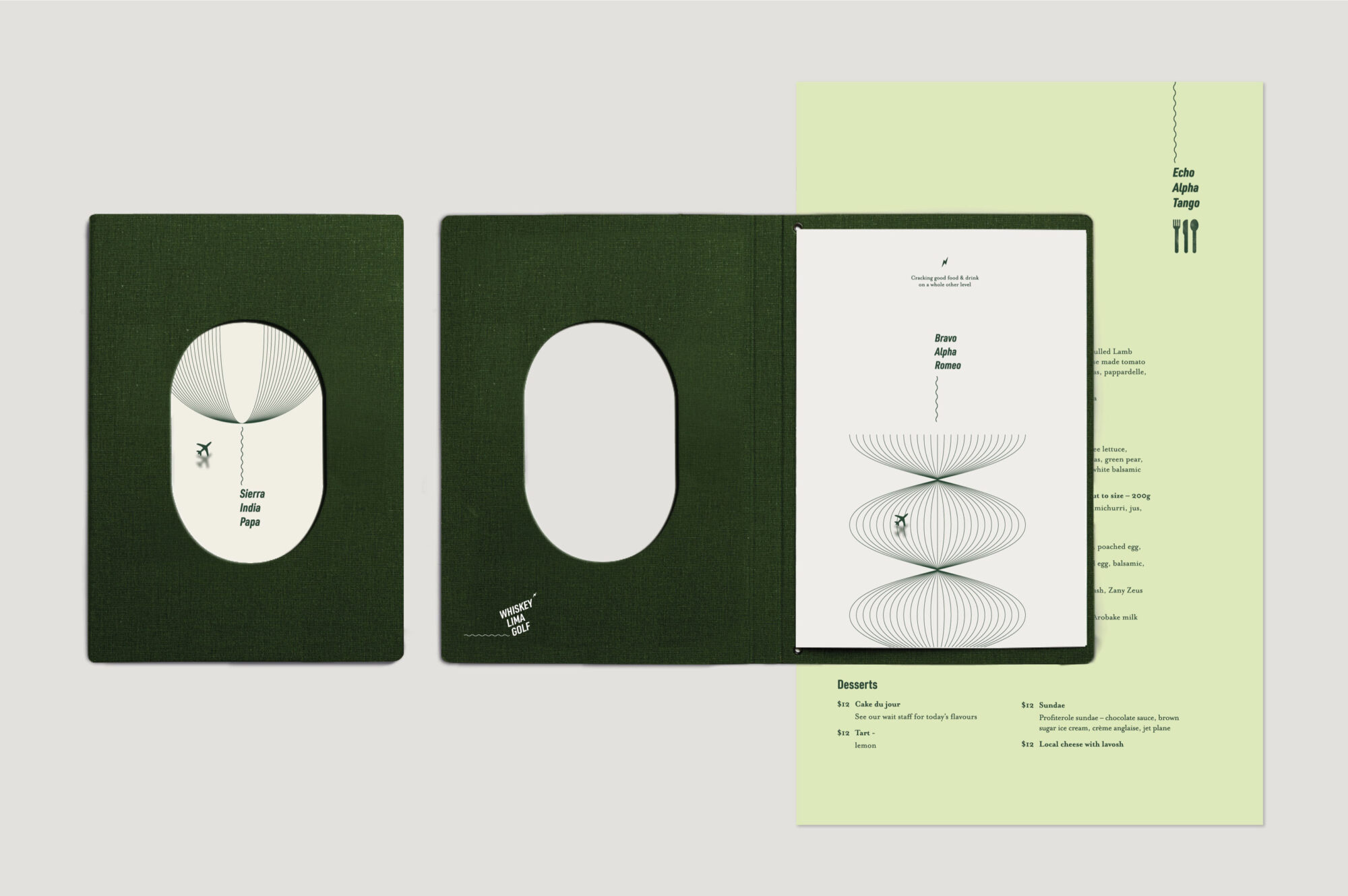 WLG menu designs