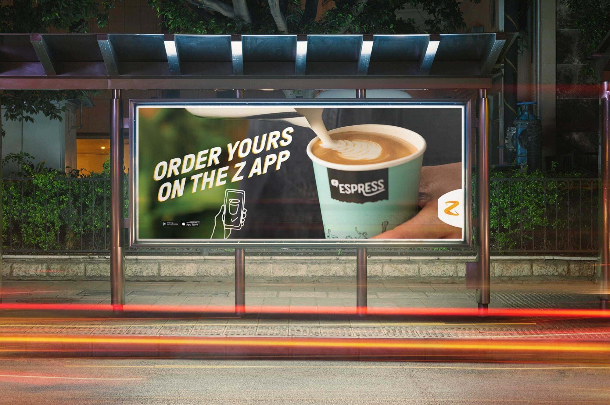 Z Espress bus shelter advert