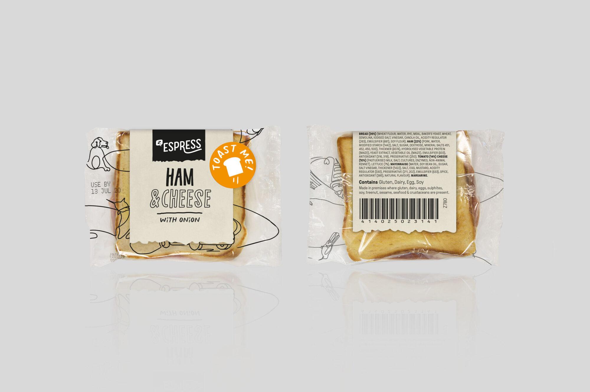 Z Espress packaging toastie