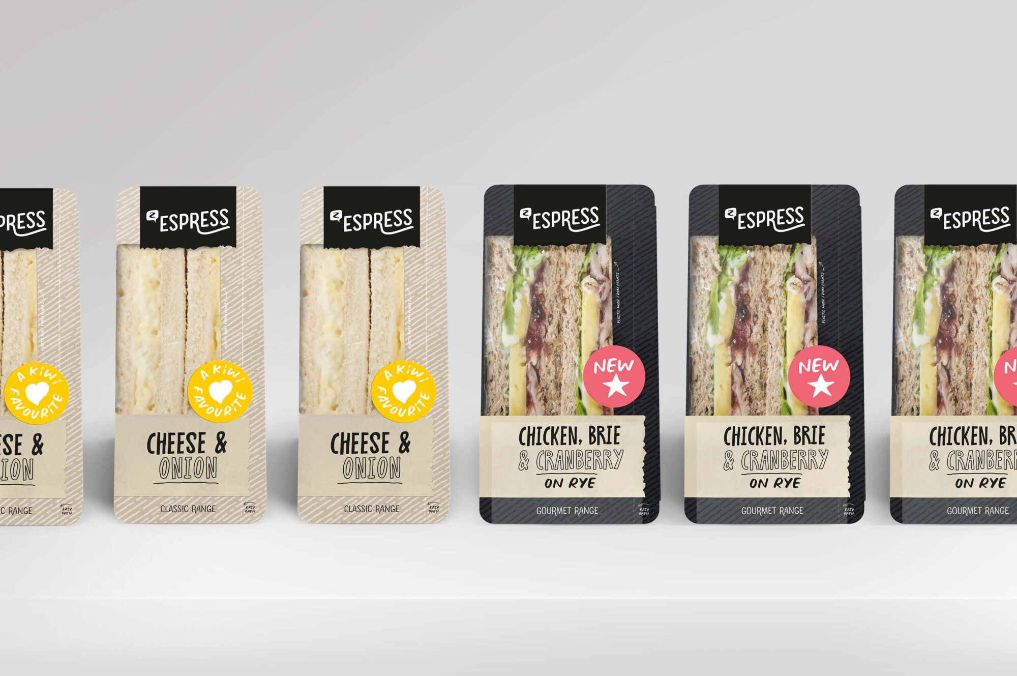 Z Espress sandwiches packaging