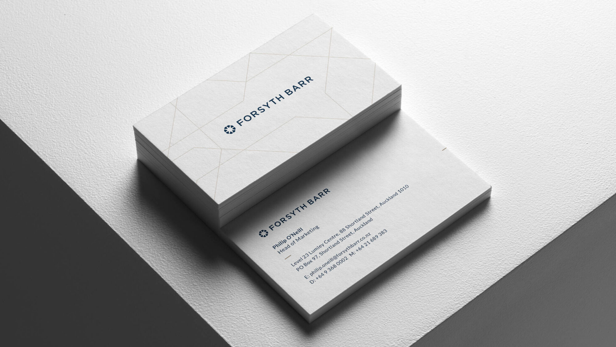 Forsyth Barr business card design