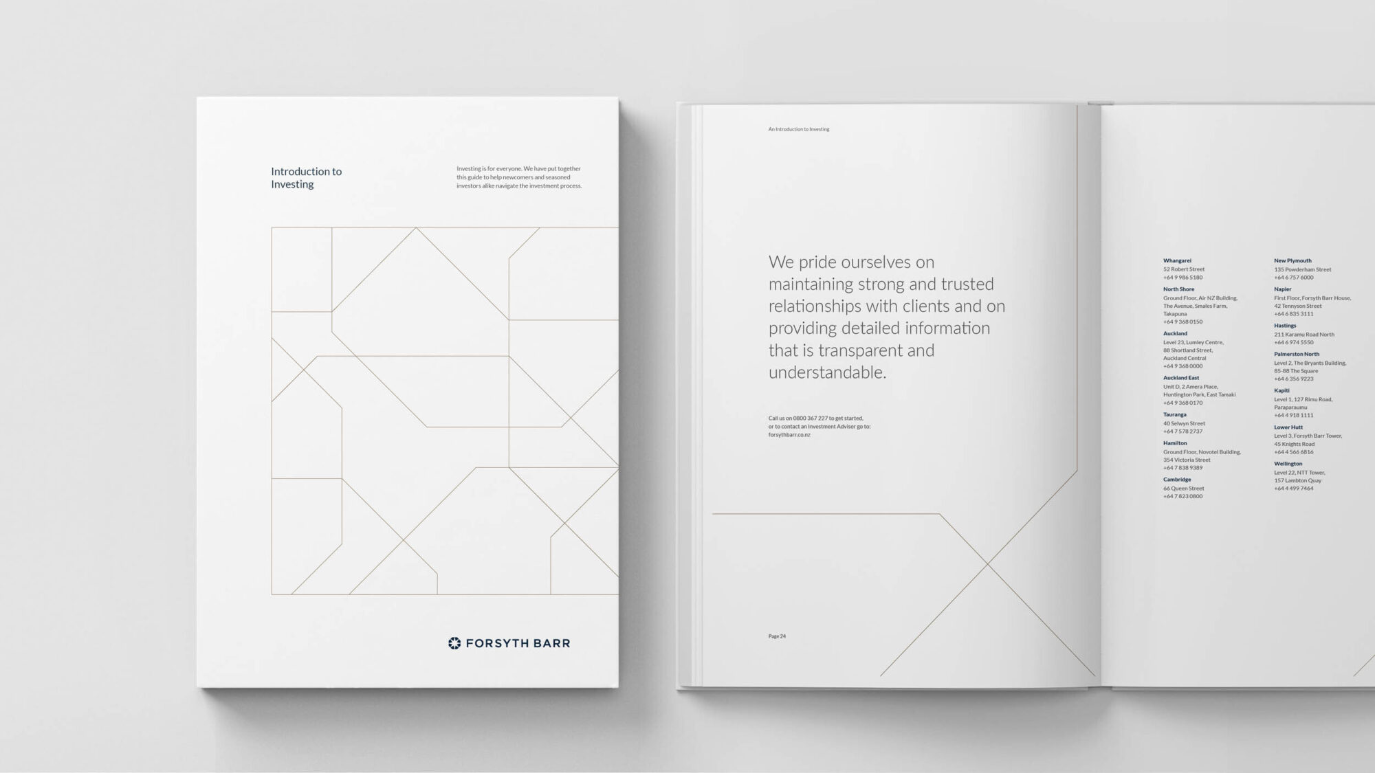 Forsyth Barr publication design minimal