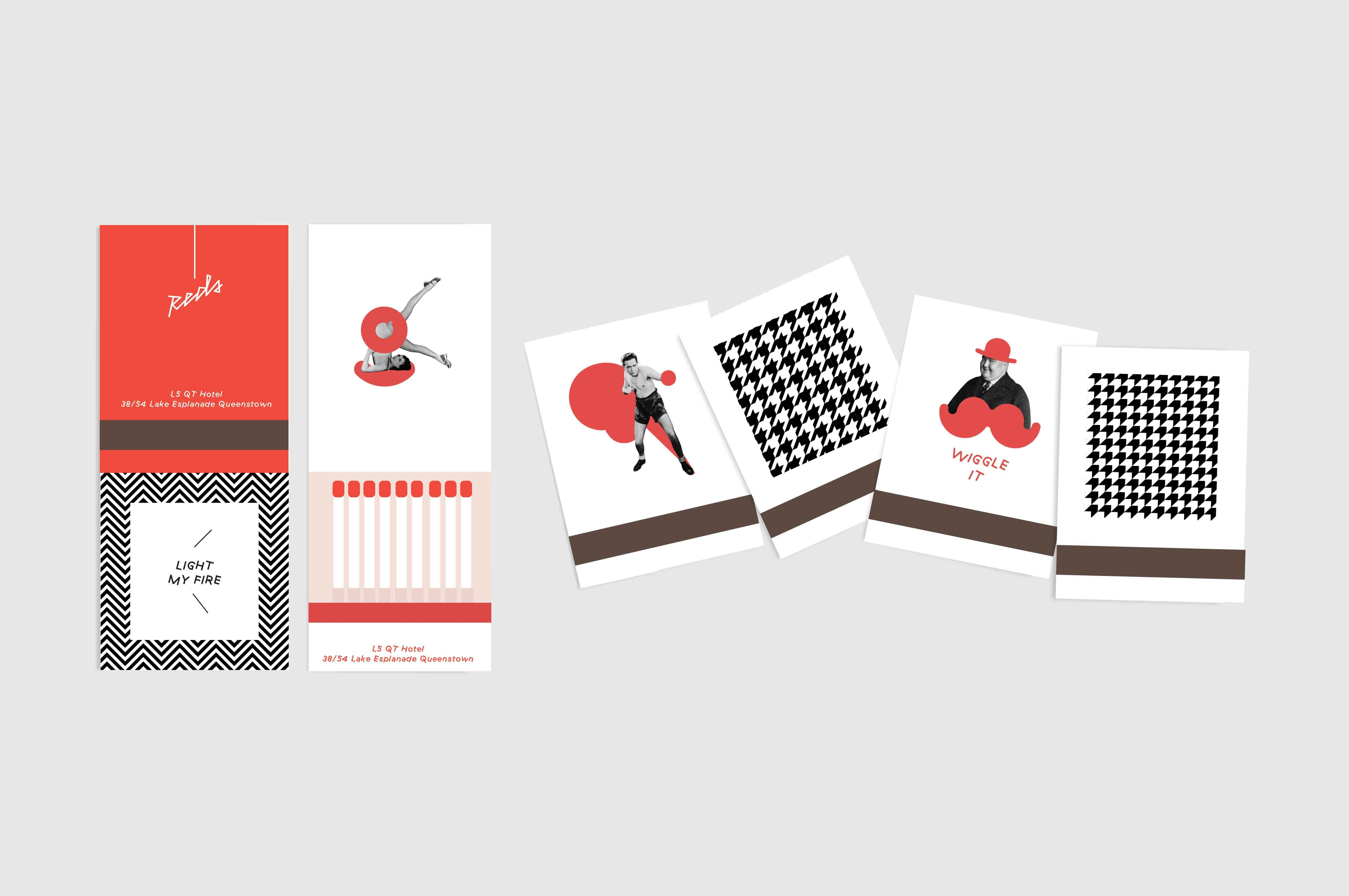 Reds branded collateral matches