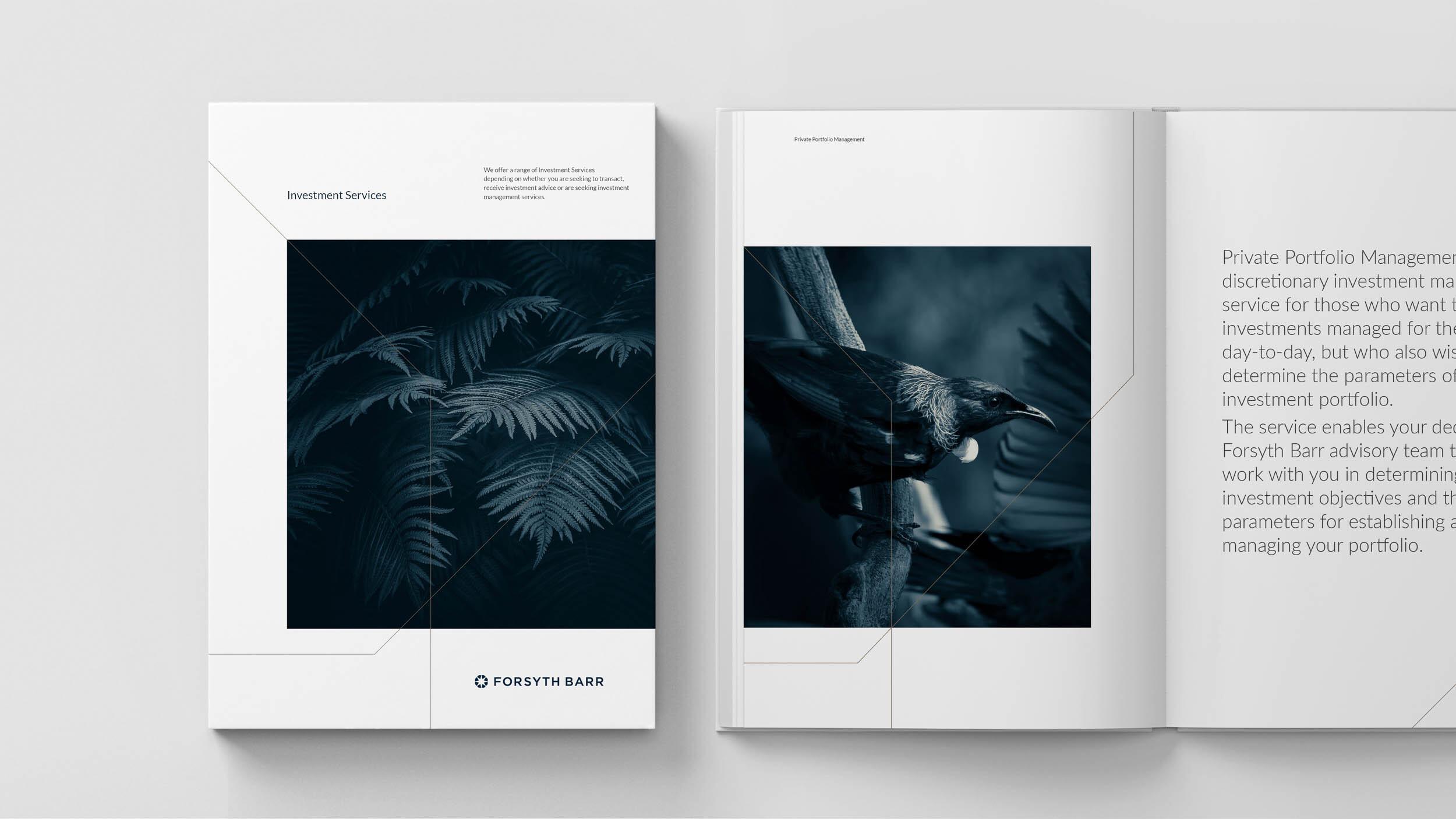 Forsyth Barr publication design photography