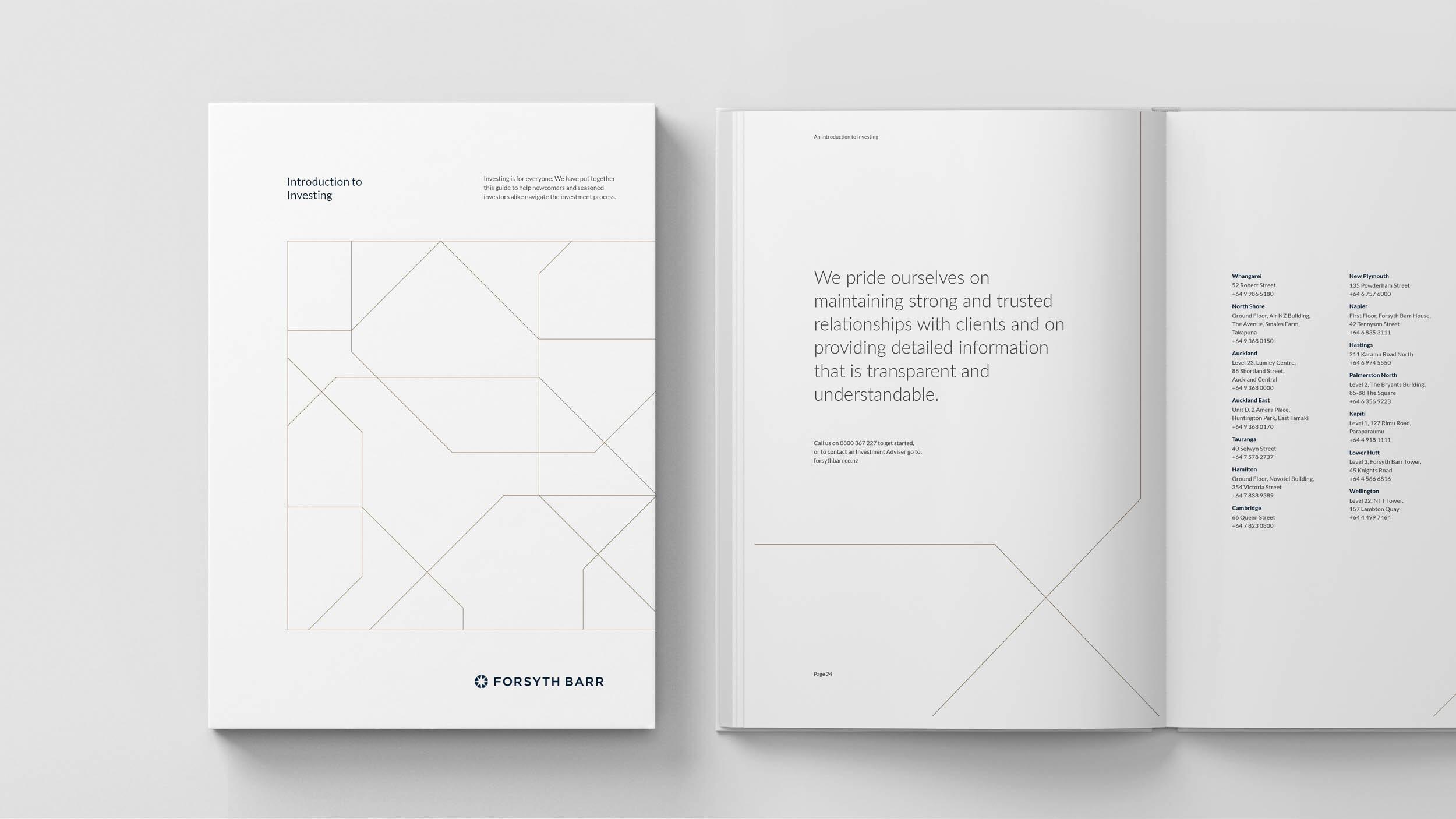 Forsyth Barr publication design minimal
