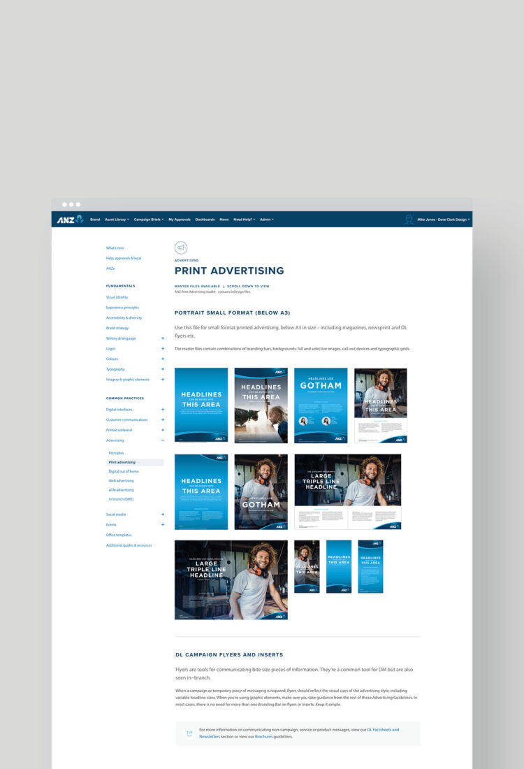 ANZ Print Advertising Guidelines