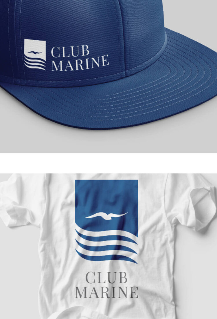 Club Marine branded shirt and hat